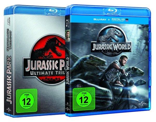 *ABGELAUFEN* Jurassic Park Ultimate Trilogy + Jurassic World (Blu-ray, dt. Version) 24,60 € + 1,99 € VSK