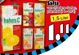 [JAWOLL] Hohes C 1,5l versch. Sorten für 1,11€ am 12.12.2015