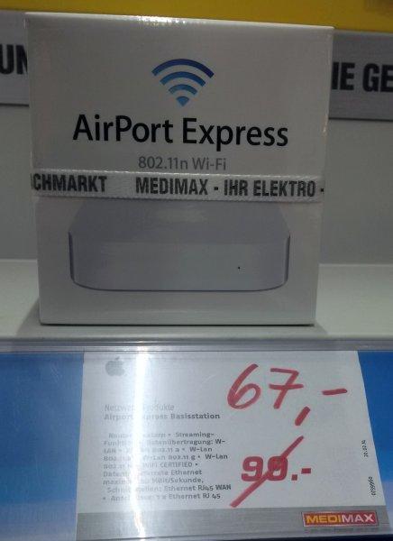 [lokal] [Medimax Eberswalde] Apple Airport Express Basisstation MC414Z/A