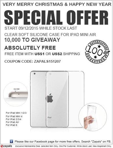 Zapals 10.000 Silikon Cases für iPads für 1,80€
