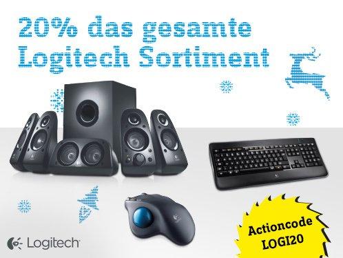 Conrad.de Tekkie-Xmas heute 20% aufs Logitech Sortiment.