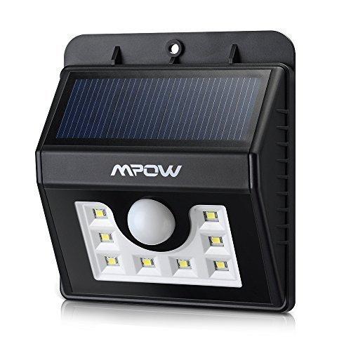 [Amazon.de Prime] 20% Rabatt auf das MPOW Solar Aussenlicht mit Bewegungsmelder (8LED's) / 15,03€ anstatt 18,79€