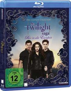 Die Twilight Saga Complete Collection (Blu-ray) für 11,99€ bei Saturn und Amazon