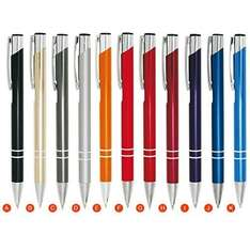 [Deazoo] 100 Kugelschreiber (21 Farben auswählbar, Alu) inkl. Lasergravur 32,50€ VGP:~50€