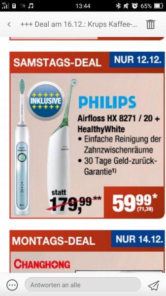 [Metro] Philips HX8271/20 Airfloss &  E-zahnbuersten Kombi