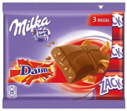 [THOMAS PHILIPPS] KW51: Milka Zack Daim 3er 135g für 0,99€ und Toblerone Dreieckstafel 60g für 0,59€