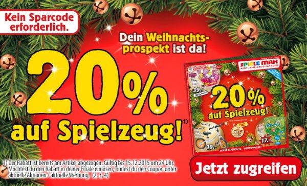 [Spielemax.de] 20% auf Spielzeug ab Einkaufswert von 50 EUR