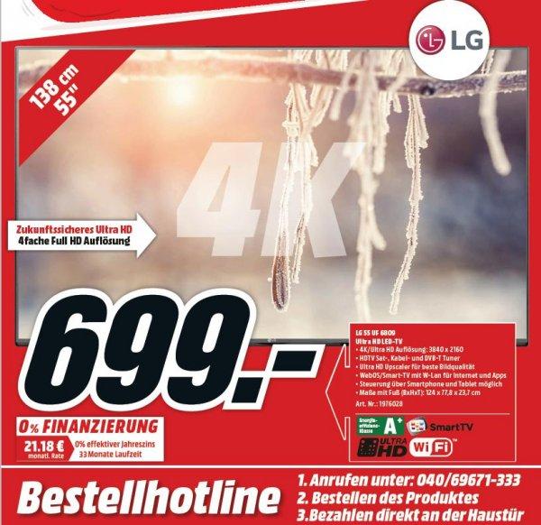 LG 55UF6809 (55 Zoll) Fernseher (UHD / 4K, Triple Tuner, Smart TV) [Lokal? Hamburg Media-Markt]