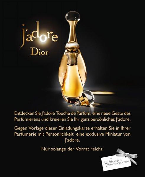 [Parfümerien mit Persönlichkeit] DIOR J'adore Duftminiatur (5ml)