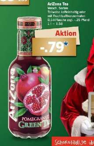 [LIDL] Arizona Ice Tea 0,5l verschiedene Sorten für 0,79€ (17.-19.12.)