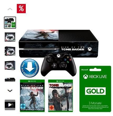 Xbox One 1TB + Rise of Tomb Raider + Tomb Raider:Definitive Edition + 3 Monate Xbox Live Konsolen-Set FÜR 317,49€