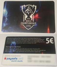 [ebay.de] League of Legends: 5 EUR Paysafecard für 3,50