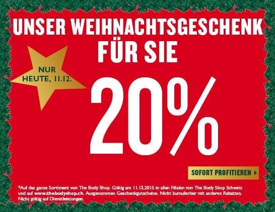 The Body Shop Schweiz - 20% auf alles
