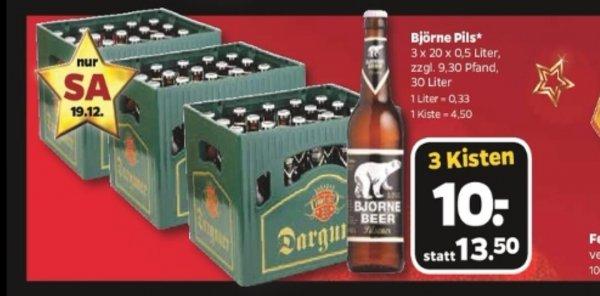[Netto - mit Hund] 3 Kisten Bier für 10€ - Bjørne Pils - am SA 19.12.