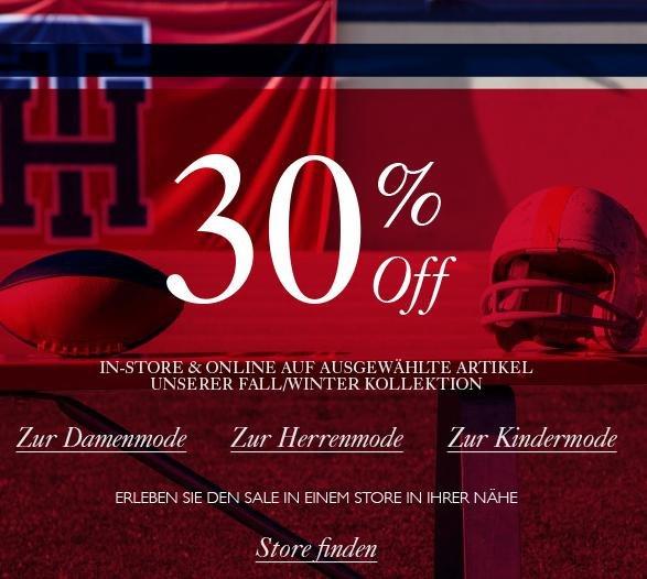 Tommy Hilfiger Sale! 30 % auf ausgewählte Fall/Winter Artikel