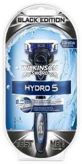 [Amazon Prime] Wilkinson Sword Hydro 5 Rasierapparat mit 1 Klinge in Ultimate Black Edition für 1,79 €