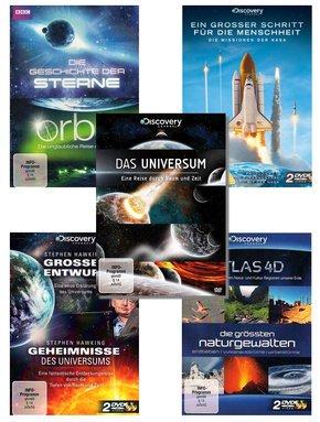 [terrashop] 12 BBC und Discovery DVDs im Set (Universum, Sterne, Naturgewalten)