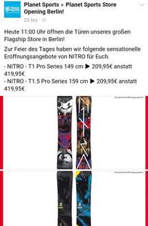 [Berlin] Planet-Sports Nitro T1 und T1.5 149cm und 159cm