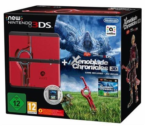 """New Nintendo 3DS """"Xenoblade 3D"""" Bundle (mit Spiel und Zierblende) für 169,95€ bei Bücher.de"""
