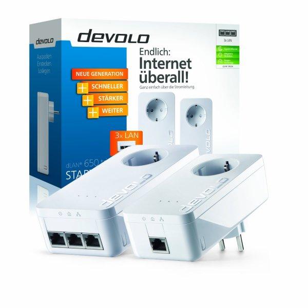 devolo dLAN 650 triple+ Starter Kit für 79,99€ @buyfox