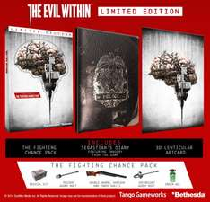 [game.co.uk] The Evil Within Limited Edition PS4 und Xbox One  für 22,02€( Inkl.3D Motivkarte + the fighting chance pack + Notizbuch)