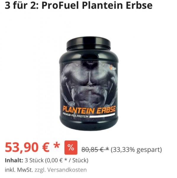 [3 zum Preis für 2] Profuel Plantein 1KG Erbsen Protein
