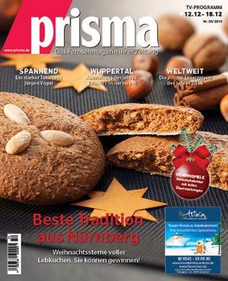 kostenloses unverbindliches Probe-Exemplar der TV Zeitschrift : Prisma