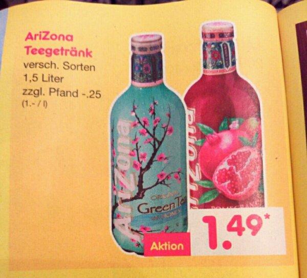 [Netto ohne Hund - bundesweit!?] AriZona Teegetränk - versch. Sorten 1,5L Flasche für 1,49€