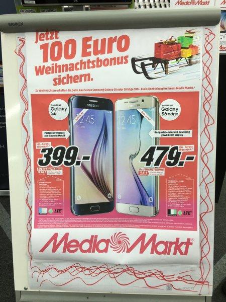 Samsung S6 32GB(399€) & S6 32GB edge(479€) in Mediamarkt Düsseldorf Bilk Arcaden
