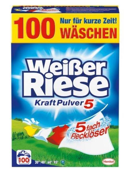 [Amazon-Prime] Weißer Riese Kraft Pulver, 1er Pack (1 x 100 Waschladungen)