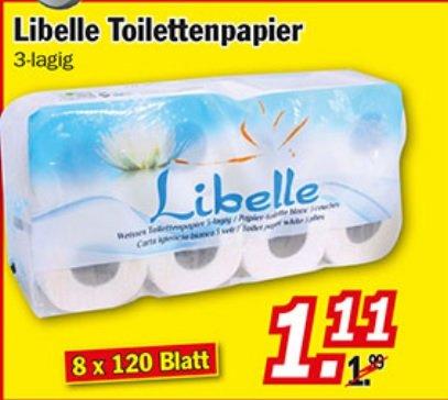 [Zimmermann]  Libelle Toilettenpapier 3lagig 1,11€ ab 14.12
