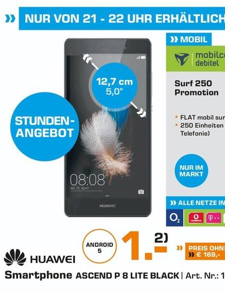(lokal) HUAWEI P8lite, 16 GB, 5 Zoll für 169€ @ Saturn Koblenz (Heute 21-22 Uhr)