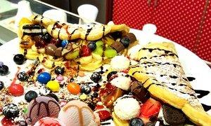 [Groupon] Wonder Crepe Diner Cafe Essen 2x Waffeln/ Crepes oder Hot Dogs mit Eis, Früchten, Saucen und Toppings inkl. Getränke
