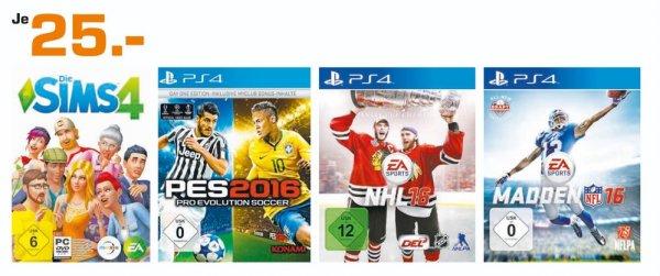 (Lokal) PS4 Games = Madden NFL16,NHL16,PES2016 für je 25€!!! @ Saturn Kleve