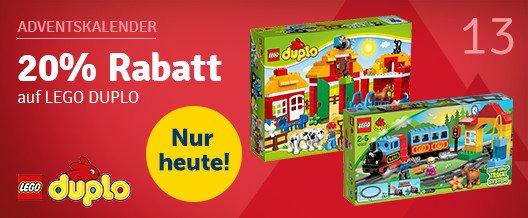 20% Rabatt auf Lego Duplo mbw 29€ - mytoys.de adventskalender