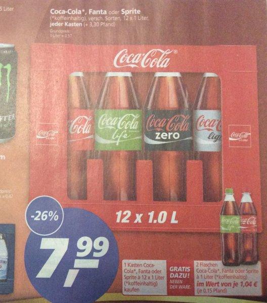 [Real Bundesweit?] Cola / Fanta / Sprite 12x1,0 L Kasten + 2 Flaschen extra