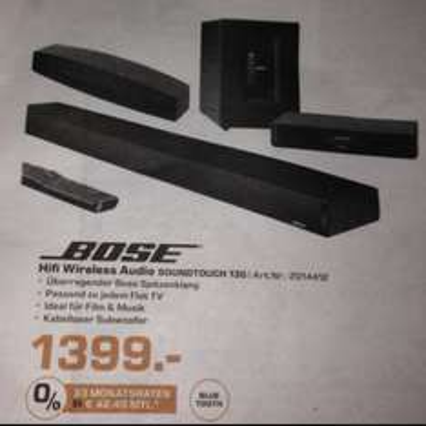 [Lokal Saturn Aachen-Aquisplaza] Bose HiFi Wireless Audio Soundtouch 130