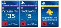 AB 18.12. @ Amazon:    40 EUR PSN Guthaben + 3 Monate PS Plus für 40 EUR
