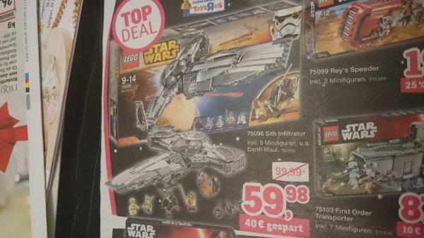 [Toys'R'us] Lego Star Wars Sith Infiltrator 75096 für 59,98 statt 89,99