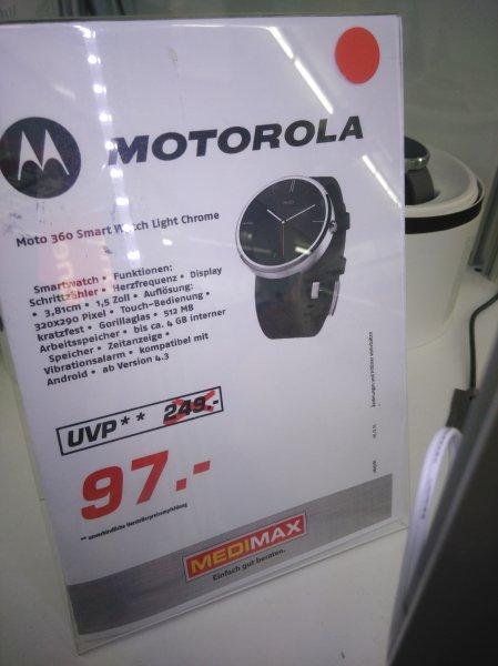 Motorola Moto 360 Smartwatch 1 noch da (Medi Max in Duisburg Hanborn)