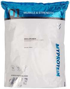 [Amazon.de-Prime] Myprotein Micellar Casein Natural Strawberry oder Natural Banana, 1er Pack (1 x 5 kg)