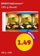 [Dietmannsried Lokal?] Penny 6 x 30 g (180 g) Bravo Halloween Chips