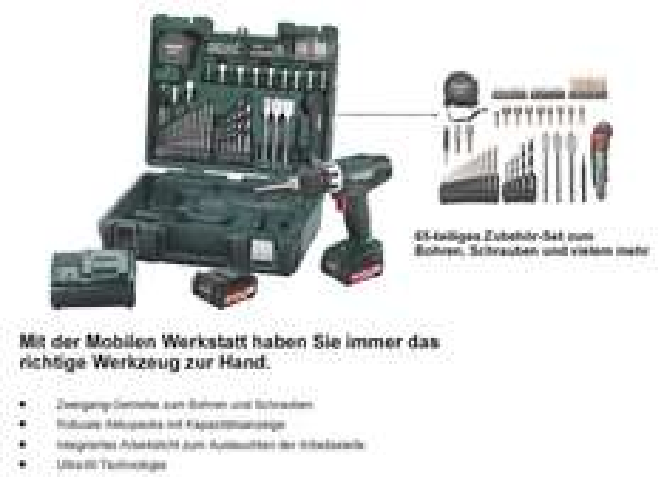 Nochmal 10 € runter: METABO BS 14,4 LI AKKU-BOHRSCHRAUBER MOBILE WERKSTATT für effektiv 129,-€