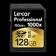 Lexar Professional 128GB 1000x Speed SDXC UHS-II Memory Card Speicherkarte inl. Vsk für ca. 53 €  > [amazon.uk]