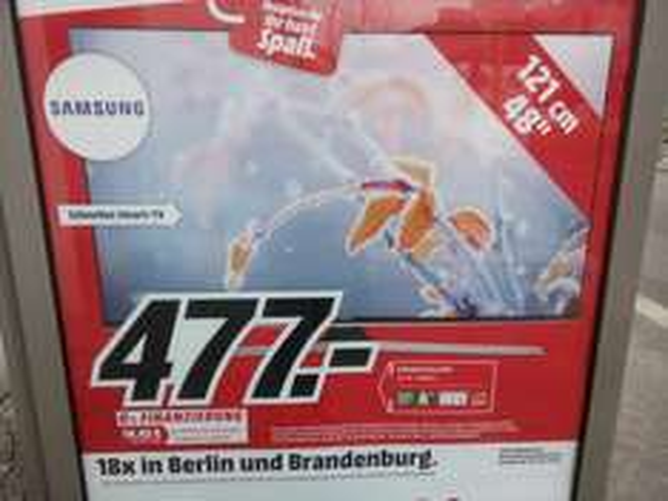 [lokal Berlin+B MM] Samsung UE48J6250 477,- €