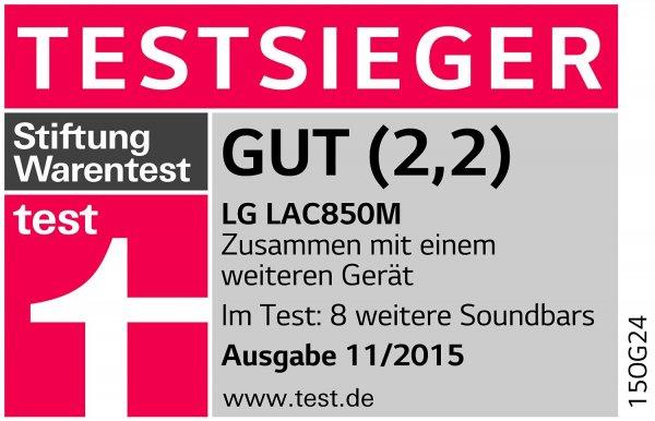 LG LAC555H für 149€ und LG LAC850M für 319€ - 2.1 und 4.1 Soundbar von LG mit Subwoofer @ Amazon