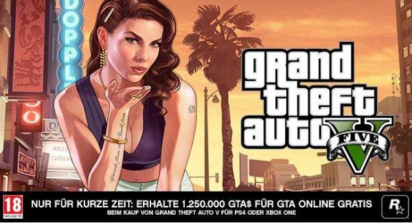 www.libro.at - gratis 1,25 Mio GTA$ beim kauf von GTA V (PS4 & XBOX)