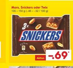 offline netto MD  mars snickers twix . 135 / 150g