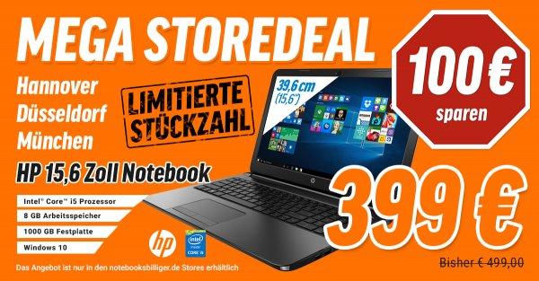 HP 250 G4 P5S18ES Notebook bei notebooksbilliger  only in den Stores für 399€ statt 499€ 100€sparen