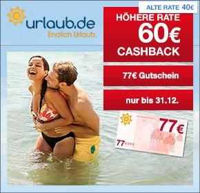 Qipu: 60,- Euro Cashback + 77,- Euro Rabatt-Gutschein für Pauschalreisen ab 1.000,- Euro bei Urlaub.de